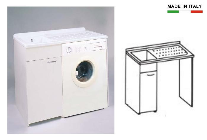 mobile lavatoio e lavastoviglie : Cerchi Lavatoio con vasca in metalcrilato per lavatrice h15619? Ampia ...