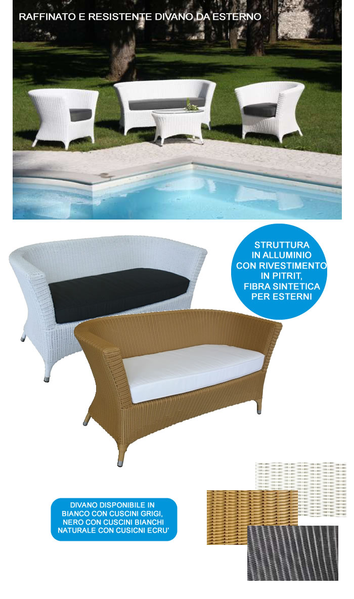 Cerchi divano per esterni in alluminio con cuscini h4604 - Cuscini da esterno impermeabili su misura ...
