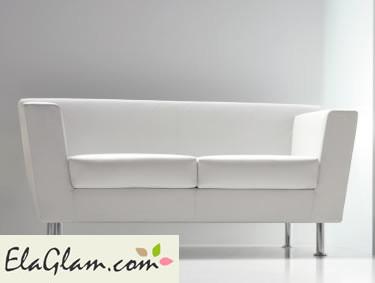 divano ufficio bianco