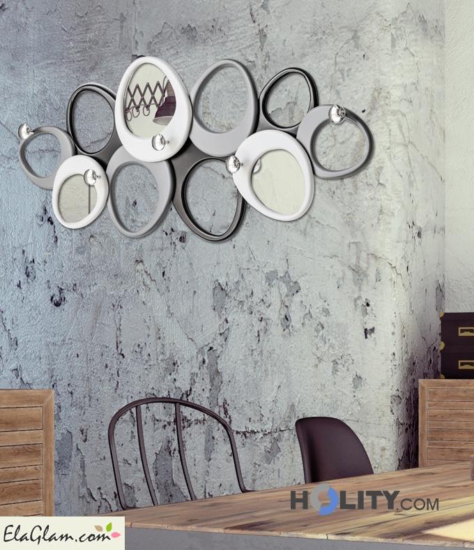 Appendiabiti di design decorato a mano Pintdecor h119162