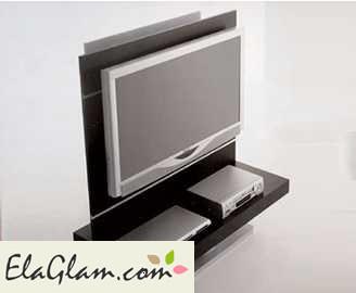 Mobile porta tv in legno e vetro con alloggiamenti per cd-dvd h10214