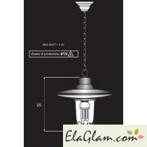Lampada a-sospensione-in-ferro-battuto-h16803