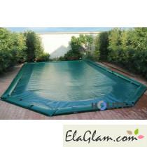 Copertura invernale per piscine interrate in poliestere ovale 6,25 x 3,50 mt h17425