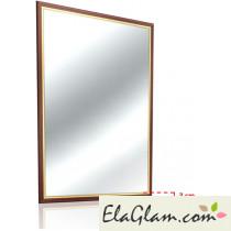 Specchio con cornice in legno h11824