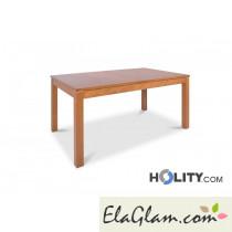 Tavolo in legno rettangolare allungabile h13002