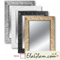Specchiera con cornice in legno h11828