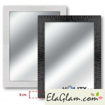 Specchio moderno con cornice in legna h11829