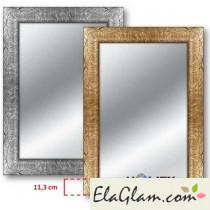 Specchiera decorata con cornice in legno h11830