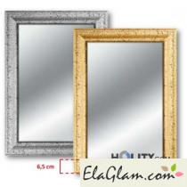 Specchiera con cornice in legno decorata con glitter h11831