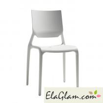 Sedia in polipropilene rinforzato h74120 lino